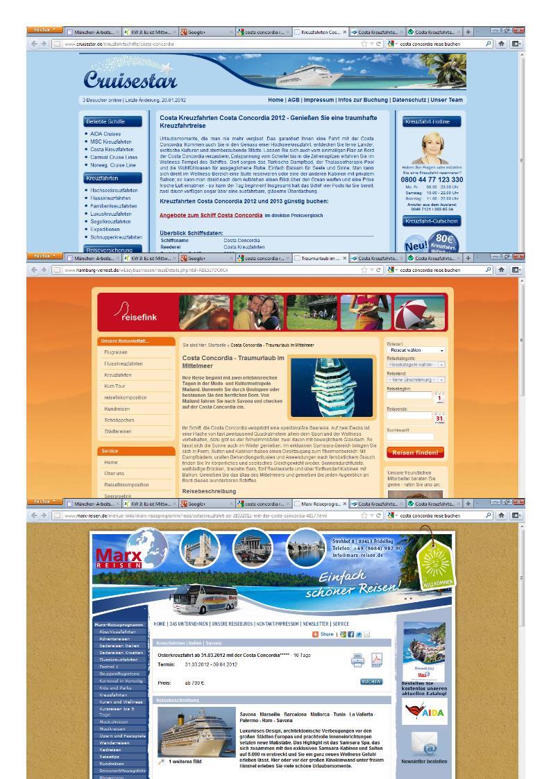 Kreuzfahrtangebote für Costa Concordia