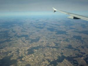 Bild von einem Flug von Düsseldorf nach Wien