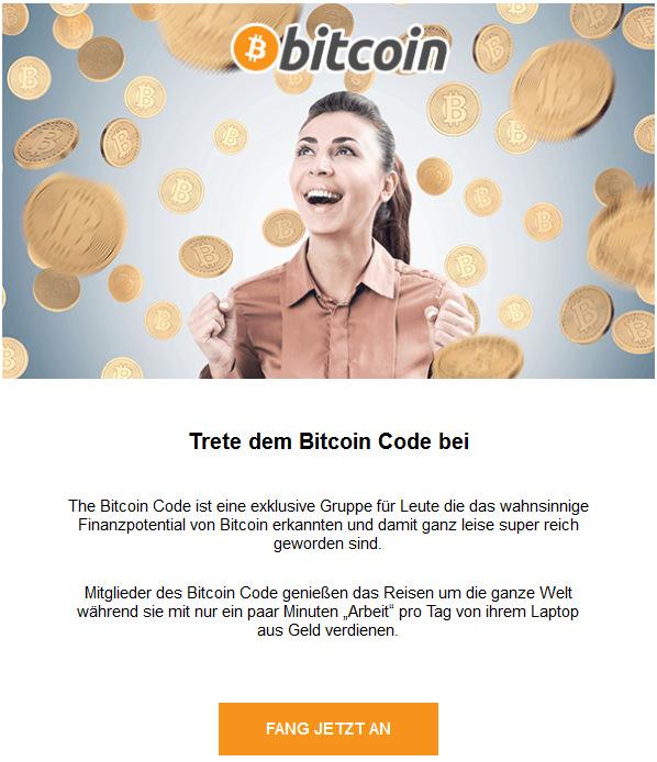 Bitcoin Code Werbung